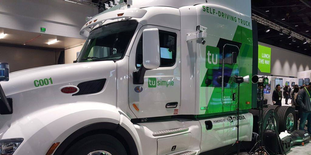 Autonomous Semi-Truck – A self-driving hauler with a data center in the cabin.