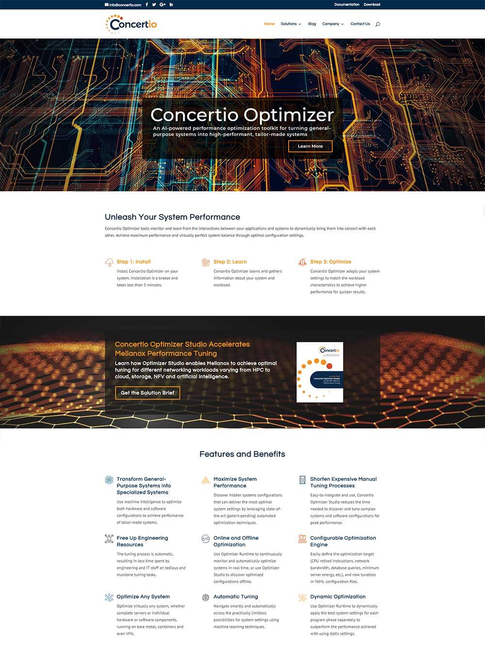 Concertio homepage