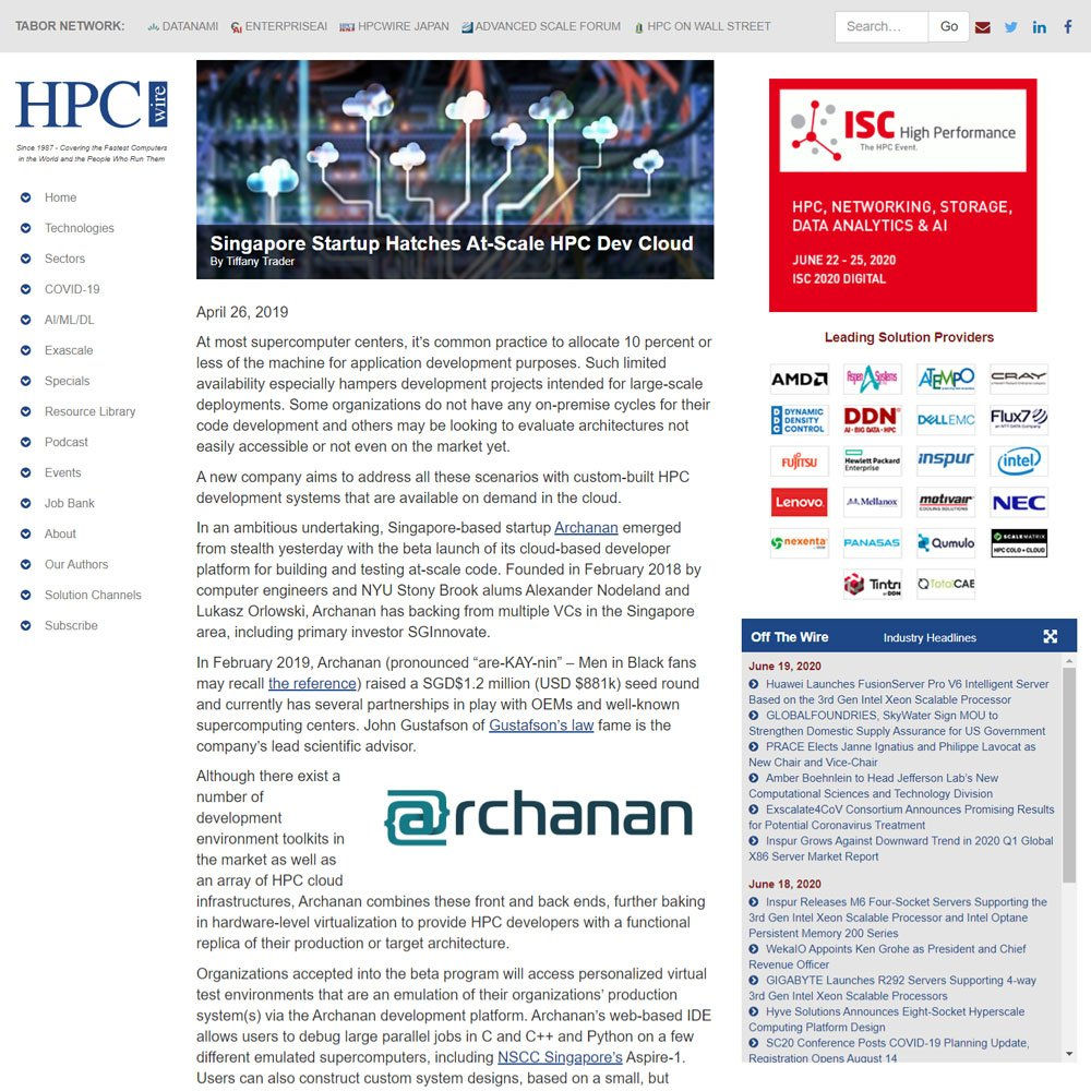 Singapore Startup Hatches At-Scale HPC Dev Cloud
